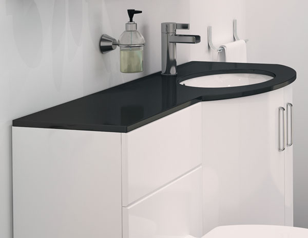 Modern shower furniture bathroom showers - Only 163 986 99 Sparkle P Shape Vanity Bathroom Suite With