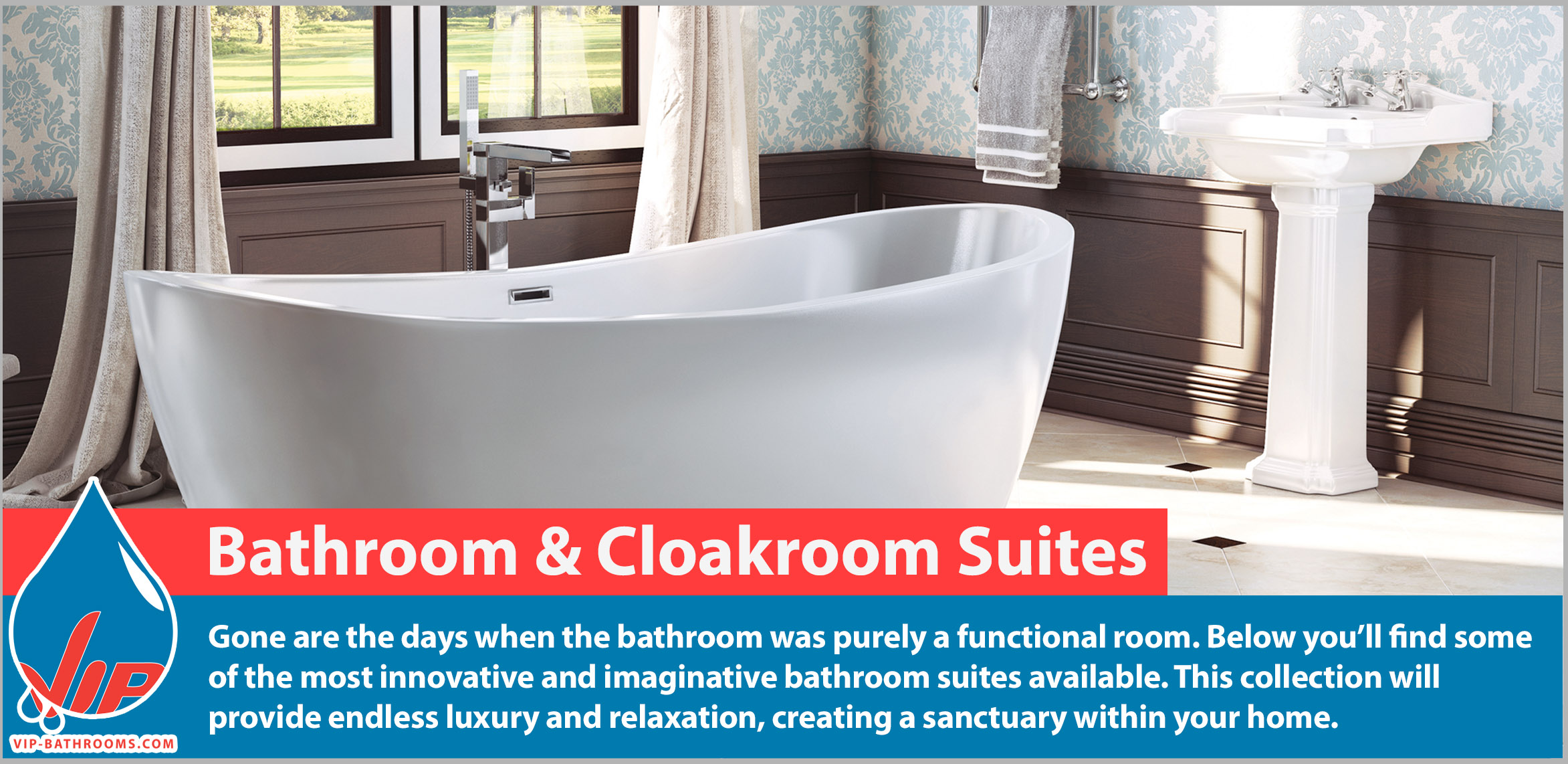 Truly luxurious bathroom suites by VIP Bathrooms. Gone are the days when the bathroom was purely a functional room. Below you'll find some of the most innovative and imaginative bathroom suites available. This collection will provide endless luxury and relaxation, creating a sanctuary within your home.