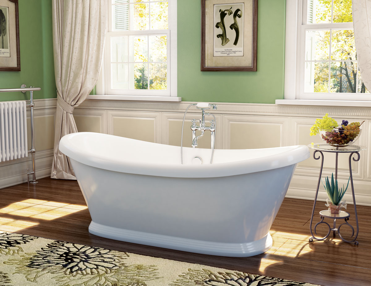 The Boat Traditional Freestanding Bateau Double Ended Bath from VIP Bathrooms - now only 569.99 GBP!
