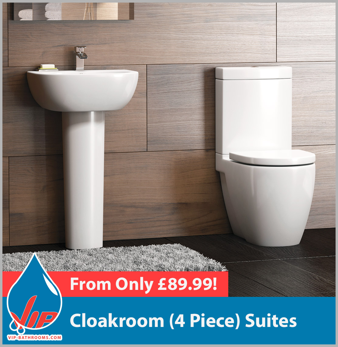 Click here to view our range of superb Four Piece Toilet & Basin Cloakroom Suites
