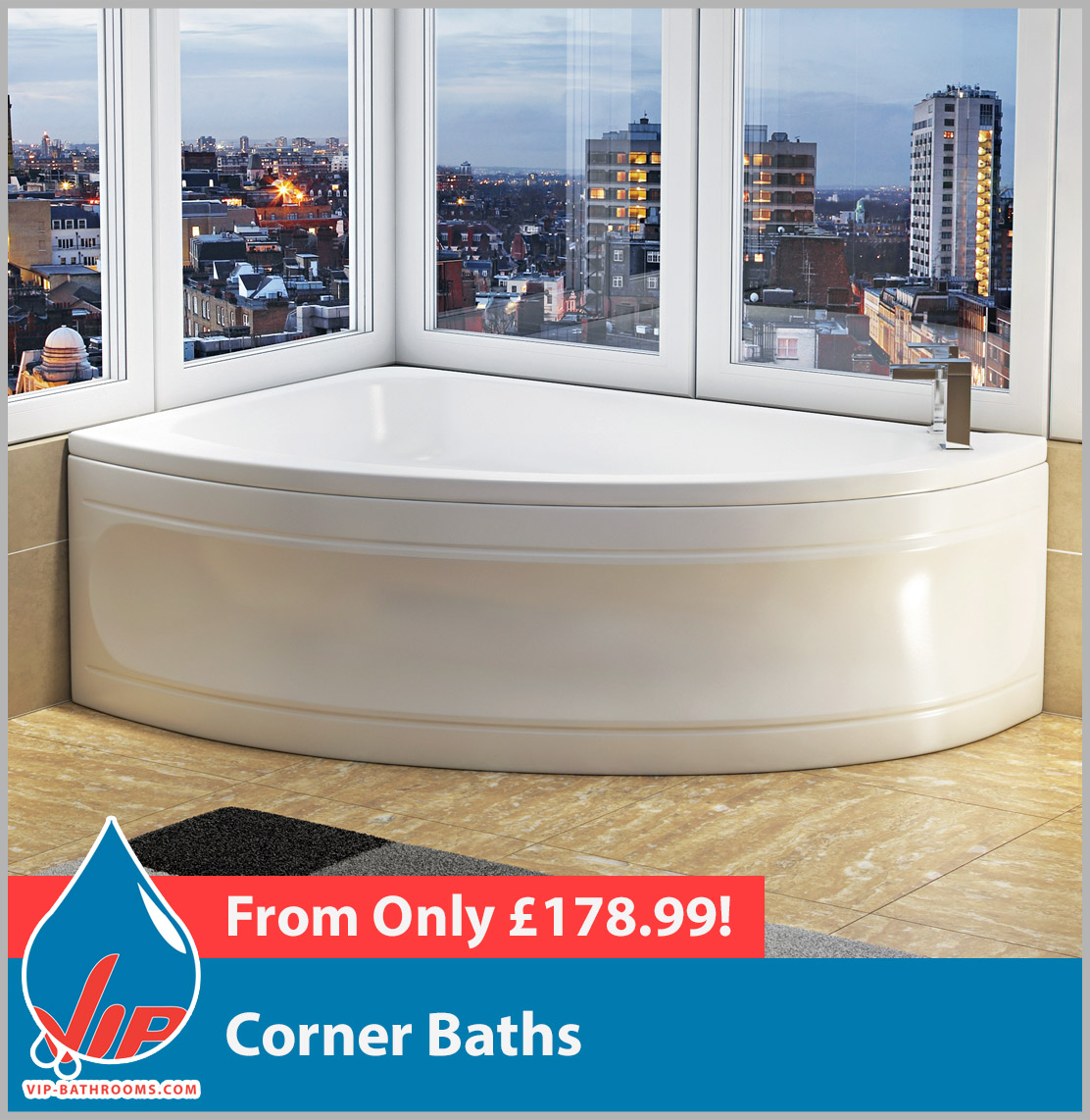 Click here to view our range of reliable, durable and superb value Corner Baths