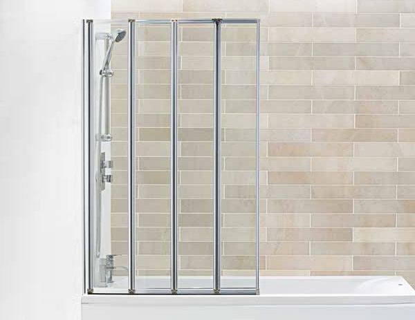 The Hydro 4 Panel Silver Folding Bath Screen from VIP Bathrooms - now only 147.99 GBP!